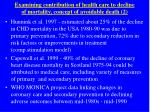 examining contribution of health care to decline of mortality concept of avoidable death 2