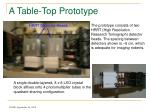 a table top prototype