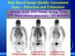 task based image quality assessment tasks detection and estimation
