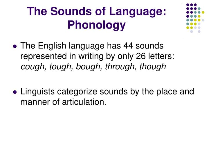 The Sounds of Language: Phonology