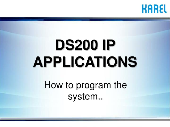 ds200 ip applications n.