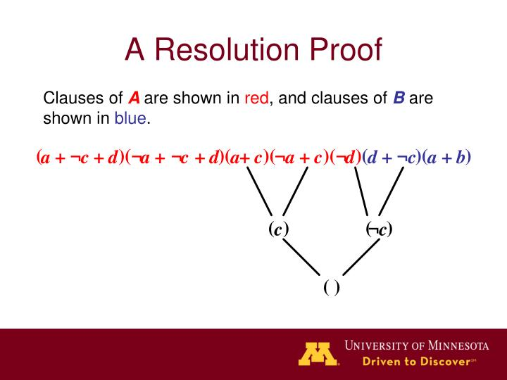 A Resolution Proof