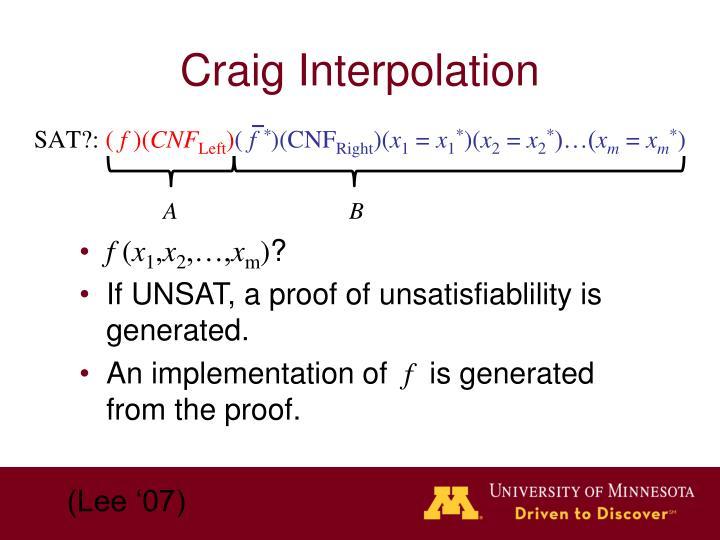 Craig Interpolation