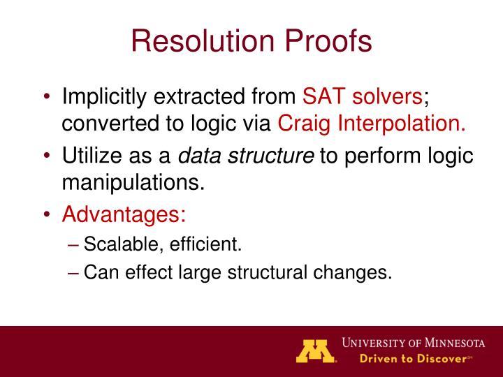 Resolution Proofs