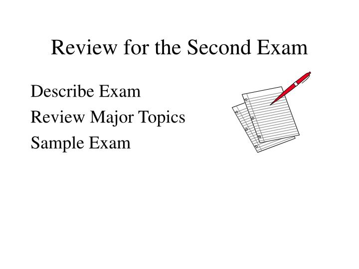 review for the second exam n.