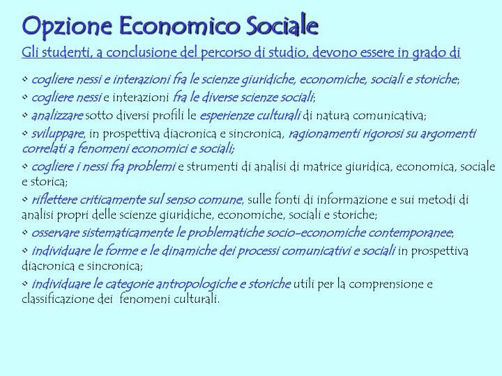 Opzione Economico Sociale