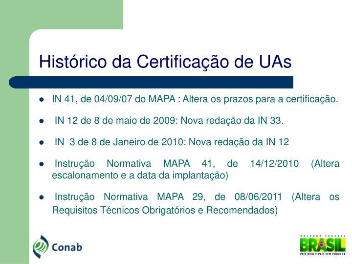 Hist rico da certifica o de uas1