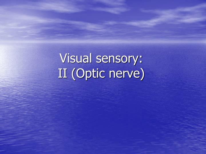 Visual sensory: