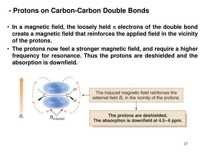 - Protons on Carbon-Carbon Double Bonds