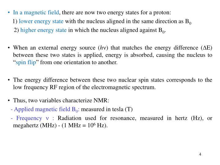 In a magnetic field