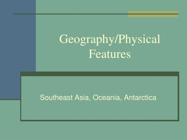 Geography physical features