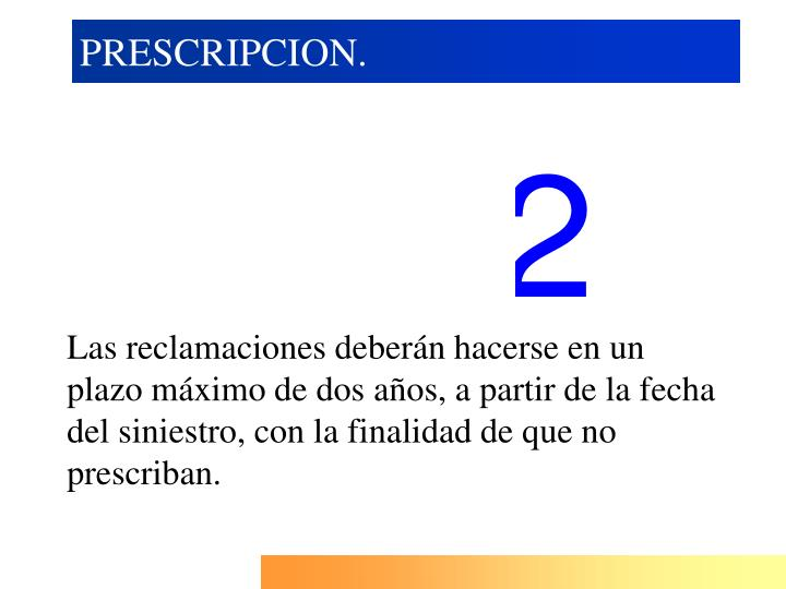 PRESCRIPCION.