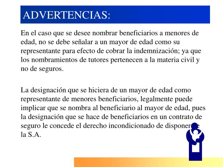 ADVERTENCIAS: