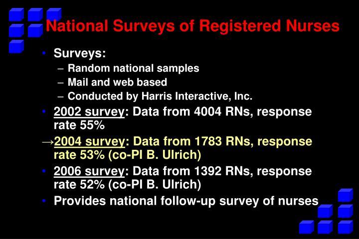 National Surveys of Registered Nurses