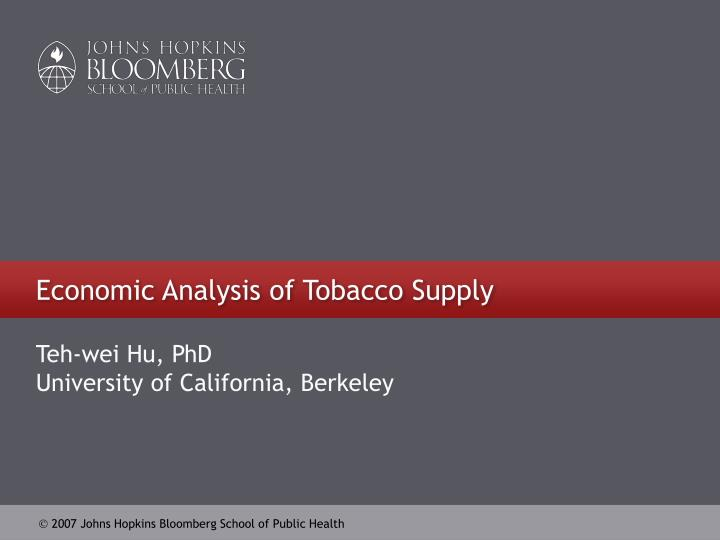 an analysis of political issues in the tobacco issues Phd nursing health policy specialty and political issues of growing tobacco control policy issues focuses on issues and evolution of tobacco control policies.