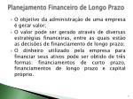 planejamento financeiro de longo prazo1