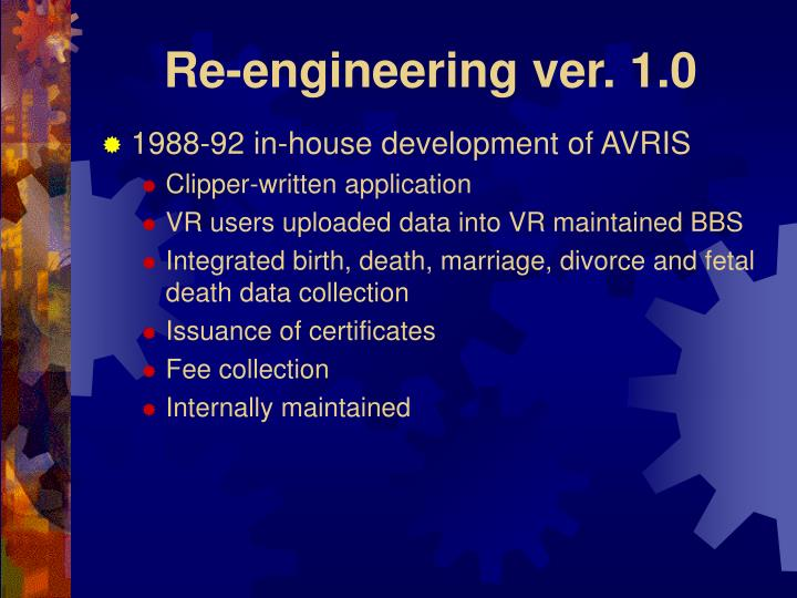 Re engineering ver 1 0