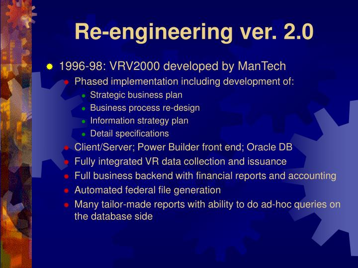 Re engineering ver 2 0