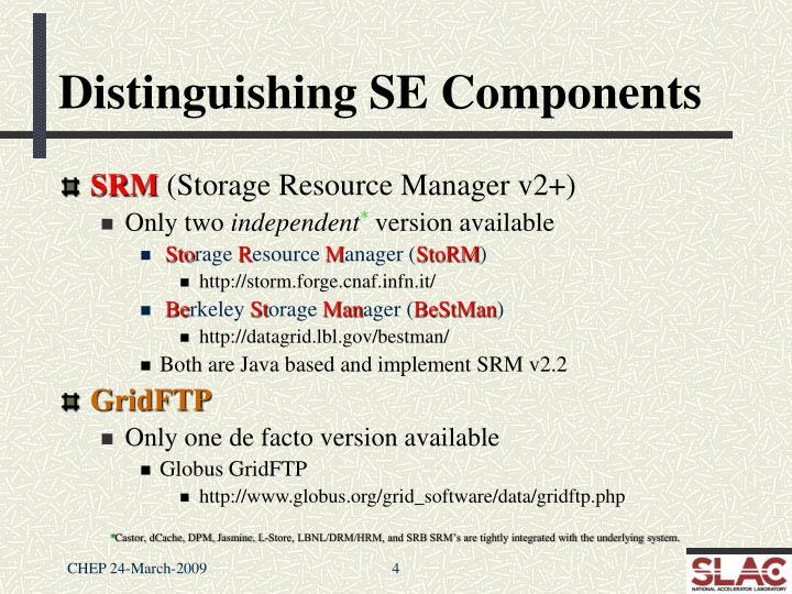 Distinguishing SE Components