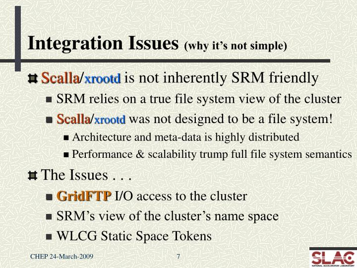 Integration Issues