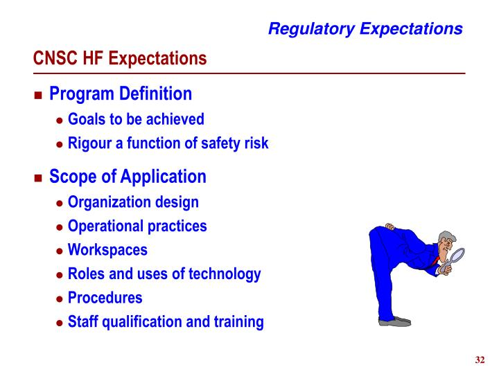 Regulatory Expectations