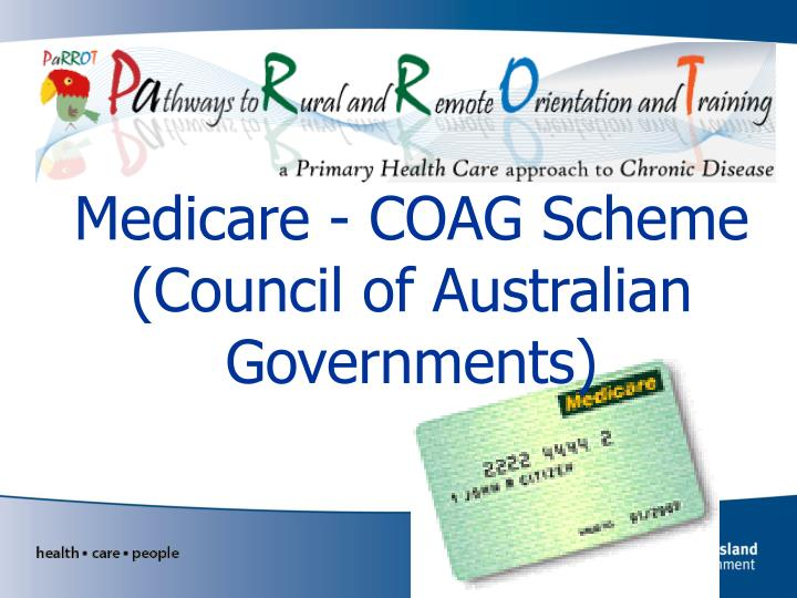 medicare coag scheme council of australian governments