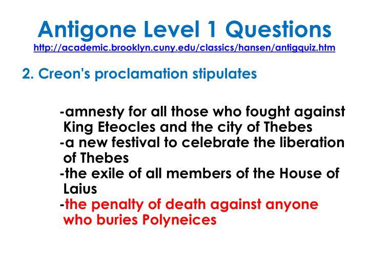 Antigone Level 1