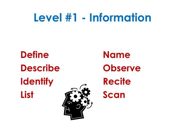 Level 1 information
