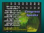 congress speaks