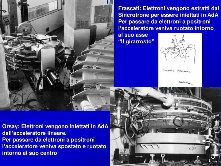 Frascati: Elettroni vengono estratti dal