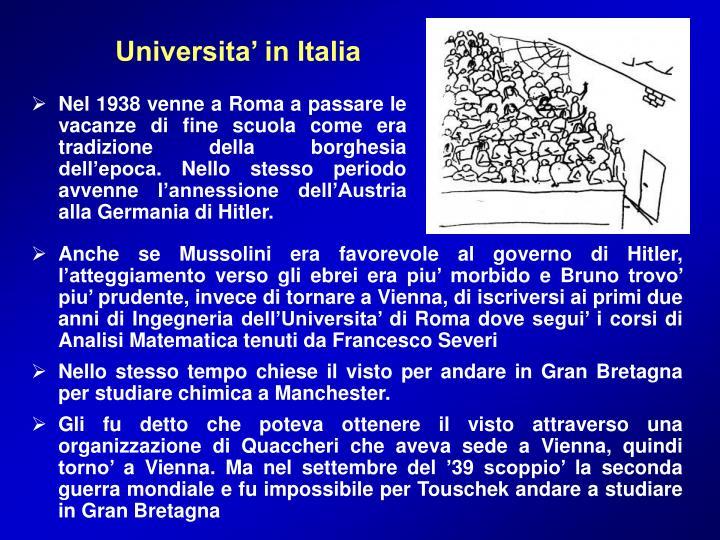 Universita' in Italia