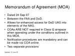 memorandum of agreement moa
