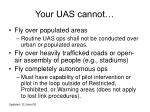 your uas cannot