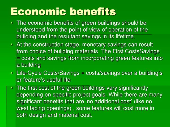 Ppt low cost green building materials selection for Cost of building materials