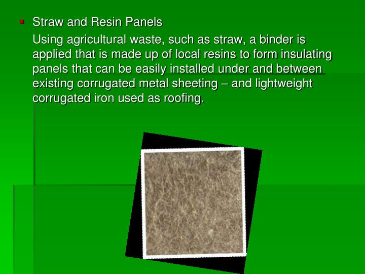 Straw and Resin Panels
