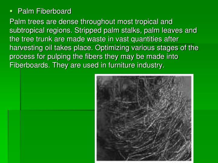 Palm Fiberboard