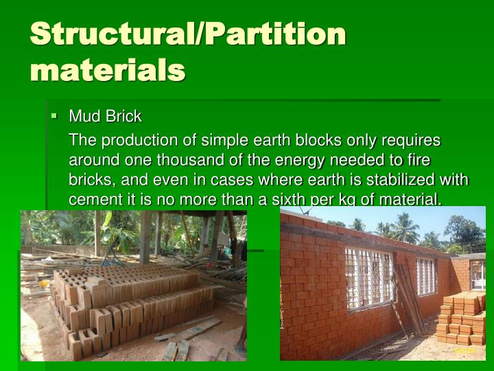 Structural/Partition materials
