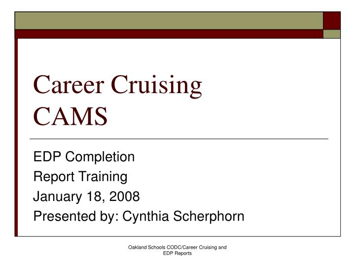 career cruising cams n.