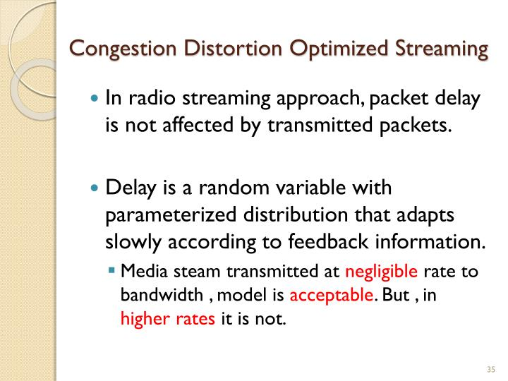 Congestion Distortion Optimized Streaming