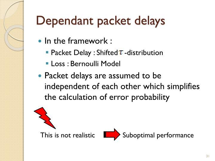 Dependant packet delays