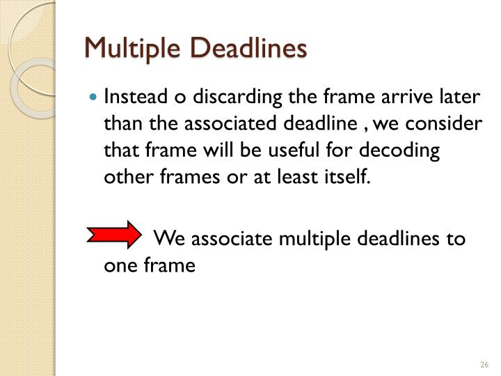 Multiple Deadlines