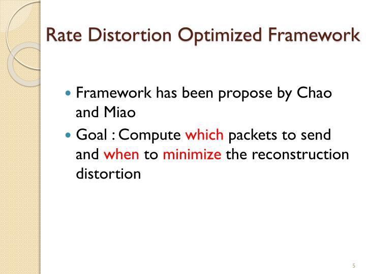 Rate Distortion Optimized Framework