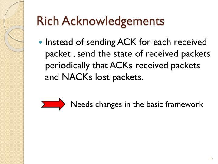 Rich Acknowledgements
