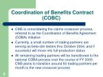 coordination of benefits contract cobc