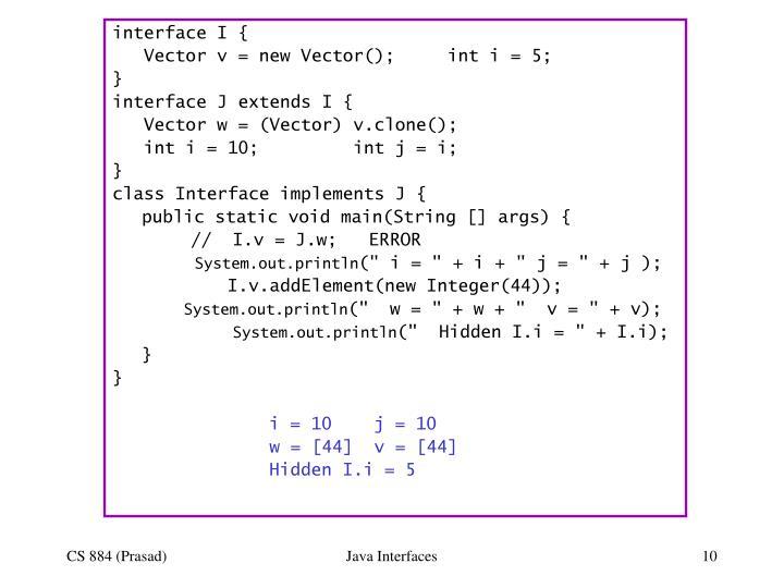 interface I {