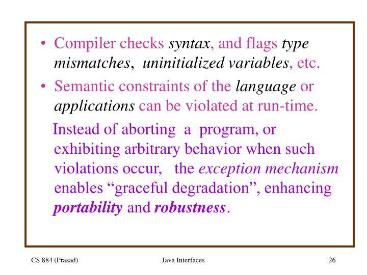 Compiler checks