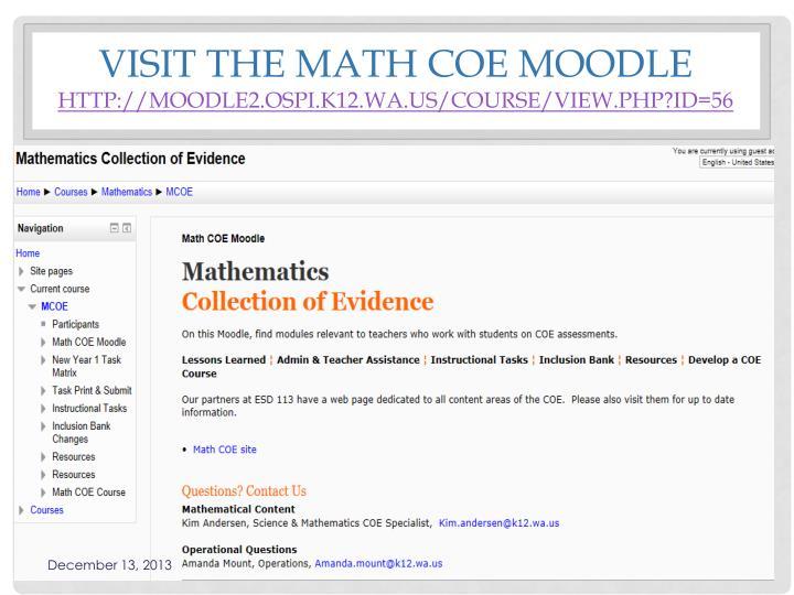Visit the Math