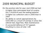 2009 municipal budget1