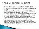2009 municipal budget7
