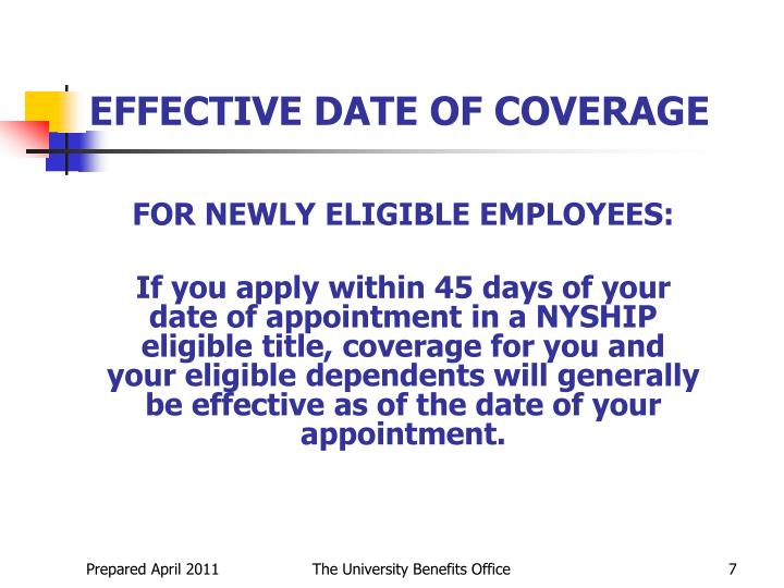FOR NEWLY ELIGIBLE EMPLOYEES: